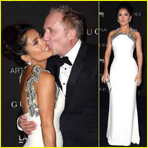 Salma Hayek is White Hot at LACMA Art + Film Gala 2014