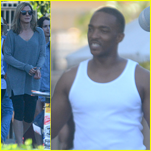 Sandra Bullock & Anthony Mackie Shoot Scenes Together for 'Our Brand Is Crisis'