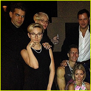 Scarlett Johansson Gets a Rare Night Out with Fiance Romain Dauriac & Other Celebs - See the Pics!
