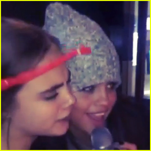 Selena Gomez & Cara Delevingne Sing 'Happy Birthday' to Kendall Jenner - Watch Now!
