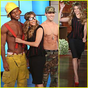 Sofia Vergara Sniffs Shirtless Guys on 'Ellen' - Watch Now!