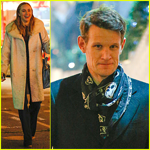 Suki Waterhouse & Matt Smith Get into Holiday Spirit at Winter Wonderland Park Opening