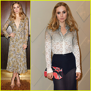 Suki Waterhouse Stuns in Two Outfits at Burberry Dinner & Opening in Munich!