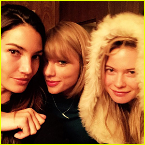 Taylor Swift Preps for the Big Victoria's Secret Fashion Show with Her Model Pals!