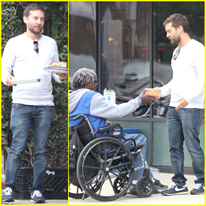 Tobey Maguire Does a Good Deed & Buys a Homeless Man Lunch