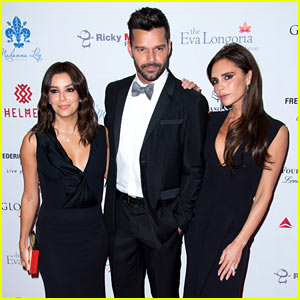 BFFs Victoria Beckham & Eva Longoria Get Dressed Up to Support the Global Gift Gala!