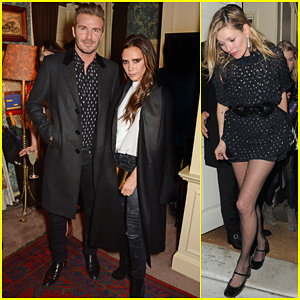 David & Victoria Beckham Have a Night of Celebration with Kate Moss