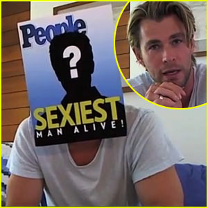 Watch Chris Hemsworth Reveal Himself as Sexiest Man Alive!