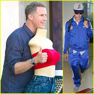 Will Ferrell Gets Silly With Mannequin on Melrose Avenue