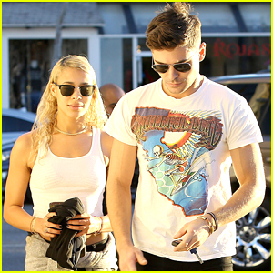 Zac Efron Accompanies Sami Miro To Modeling Meeting