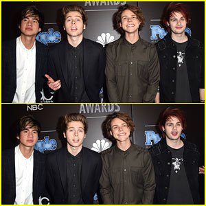 5 Seconds of Summer Gets Ready to Perform at the First Ever People Magazine Awards