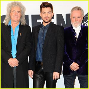 Adam Lambert Reunites with Queen at a Press Conference!