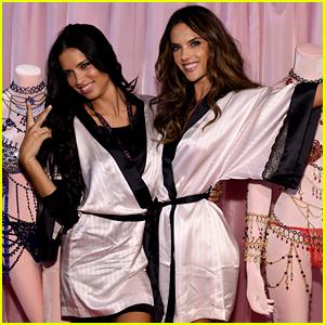 Adriana Lima & Alessandra Ambrosio Pose With Their Fantasy Bras Before the Victoria's Secret Fashion Show!