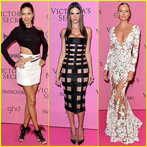 Adriana Lima & Alessandra Ambrosio Continue to Show Skin at Victoria's Secret Fashion After Party