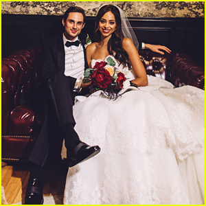 Greek's Amber Stevens & Andrew J. West Look So Happy in First Wedding Pictures (Exclusive Photo!)