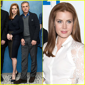 Amy Adams & Christoph Waltz Have 'Big Eyes' Promoting Their New Movie