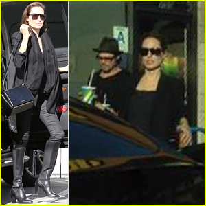 Angelina Jolie Shops with Her Kids, Grabs Subway with Brad Pitt!