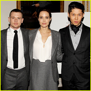 Angelina Jolie Supports Her Cast at a Special 'Unbroken' Luncheon