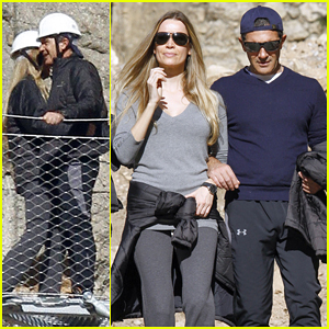 Antonio Banderas & Girlfriend Nicole Kempel Go Hiking at El Caminito del Rey in Spain!