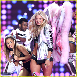 This is the Moment Ariana Grande Got Smacked By Angel Wings at Victoria's Secret Fashion Show