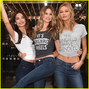 Behati Prinsloo & Karlie Kloss Live It Up at Victoria's Secret Fashion Show 2014 London Photo Call!