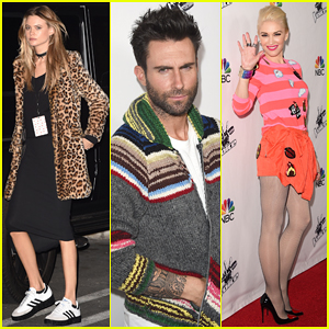 Behati Prinsloo Keeps It Low Key at 'The Voice' Red Carpet Event with Hubby Adam Levine & Gwen Stefani!