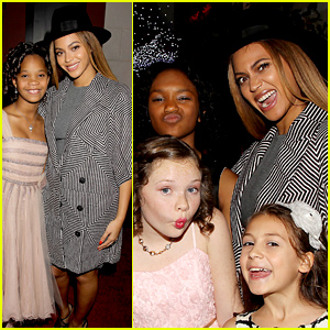Beyonce Gets Super Silly with the 'Annie' Girls, Hangs with Jay Z at Film's After Party!