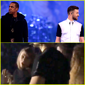 Beyonce & Taylor Swift Watch Justin Timberlake's Concert Together! (Video)