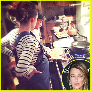 Pregnant Blake Lively & Growing Baby Bump Get Cooking Lesson From 'Top Chef' Winner