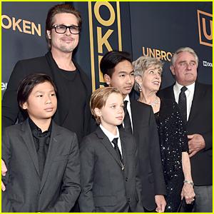 Brad Pitt Brings Three of His Kids to 'Unbroken' Hollywood Premiere