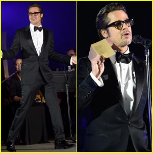Brad Pitt Introduces Rihanna's Performance at Inaugural Diamond Ball 2014 - Watch Here!