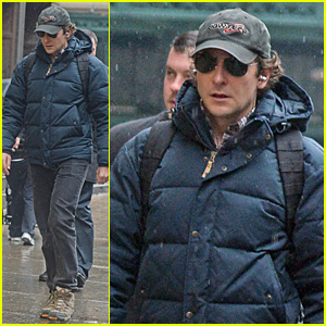 Bradley Cooper Doesn't Let the Rain Stop Him in NYC
