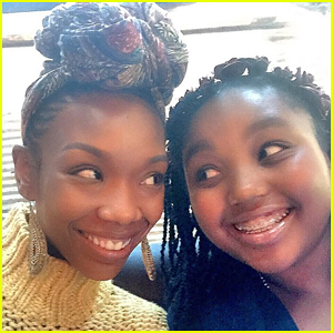 Brandy Shares Adorable Sunday Selfie with Daugther Sy'rai!