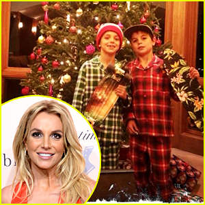 Britney Spears Treats Her Kids to Presents on Christmas Eve
