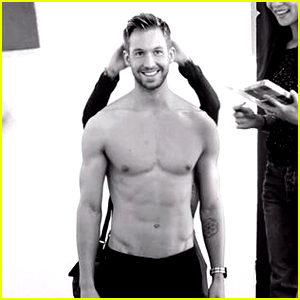 Calvin Harris Flaunts His Abs, Goes Shirtless for 'Armani' Shoot