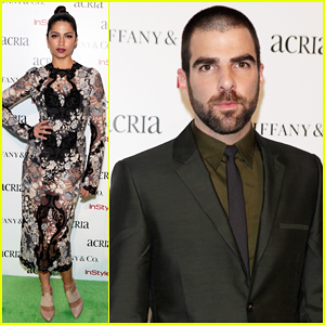 Camila Alves & Zachary Quinto Step Out In Style for Acria Holiday Dinner 2014!