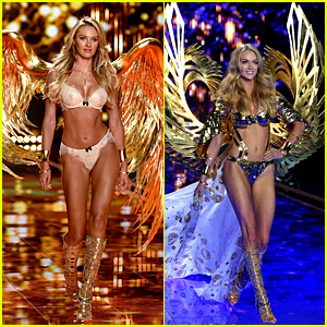 Candice Swanepoel & Lindsay Ellingson Spread Their Golden Wings at Victoria's Secret Fashion Show 2014!