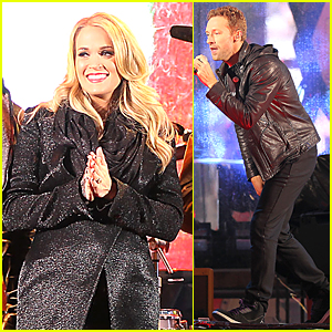Pregnant Carrie Underwood & Chris Martin Fight Against AIDS By Performing at Times Square