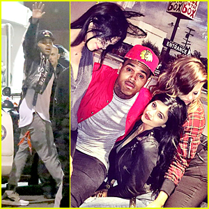 Chris Brown Lets Kendall Jenner Sit On His Lap After Confirming Karrueche Tran Split