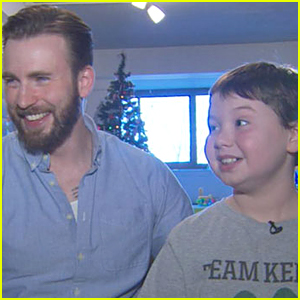 Chris Evans Visits Young Cancer Patient & Warms Our Heart - Watch Now!