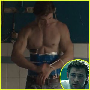 Chris Hemsworth Shows Off Shirtless Sexy Body in 'Blackhat