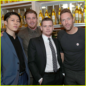 Chris Martin Jokes Around with Oscar Voters at 'Unbroken' Party
