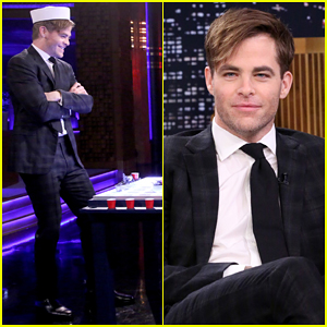 Chris Pine Plays A Game of Battleshots with Jimmy Fallon on 'The Tonight Show' - Watch It Here!