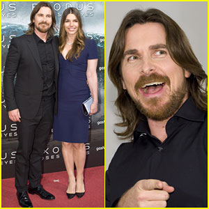 Christian Bale Appears to Be on Cloud Nine with Wife Sibi at 'Exodus: Gods and Kings' Photocall
