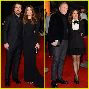 Christian Bale Gets Support from Wife Sibi & Salma Hayek at 'Exodus: Gods and Kings' London World Premiere!