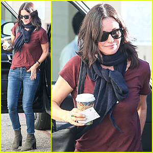 Courteney Cox Puts Toned Arms on Display During Holidays