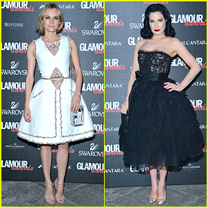 Diane Kruger & Dita Von Teese Celebrate Glamour Awards Together