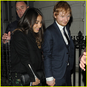Ed Sheeran Adorably Holds Hands with Girlfriend Athina Andrelos After Releasing New Song 'Make It Rain'