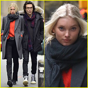Elsa Hosk Hangs Out with Her Boyfriend Alexander DiPersia After Accidently Hitting Ariana Grande at the Victoria's Secret Fashion Show