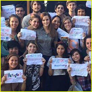 Emma Watson Gets Support For Her HeForShe Campaign in Argentina